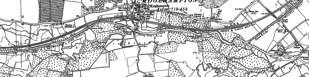 Old map of Woolhampton in 1898