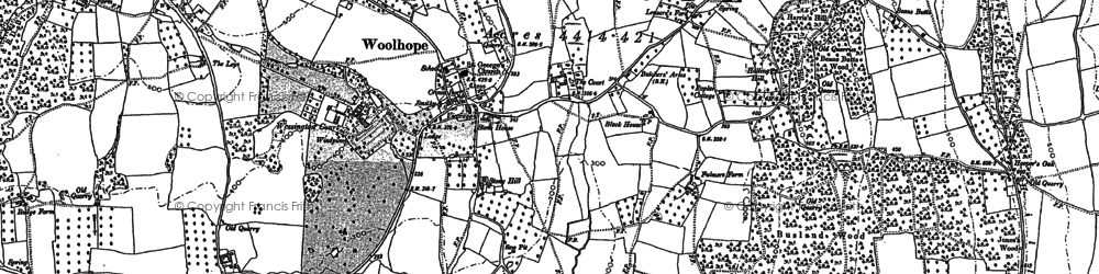 Old map of Woolhope in 1887