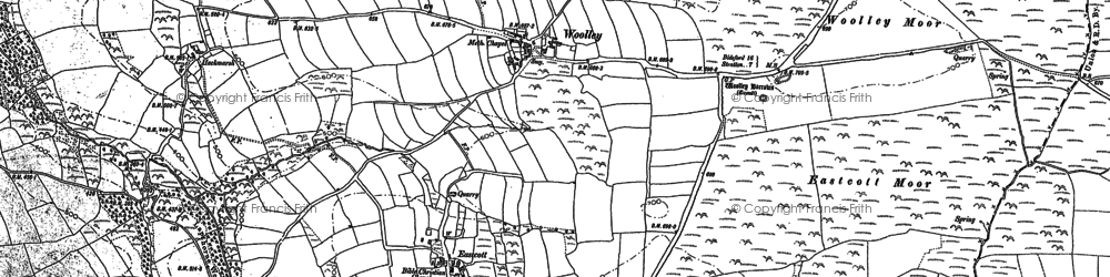 Old map of Woolley in 1887