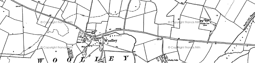 Old map of Woolley Hill in 1887