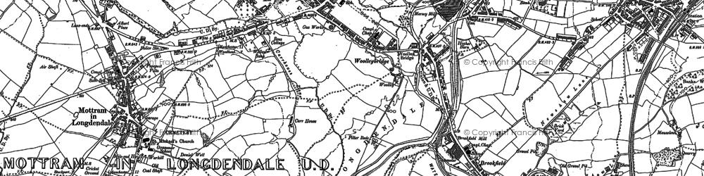 Old map of Woolley Bridge in 1899