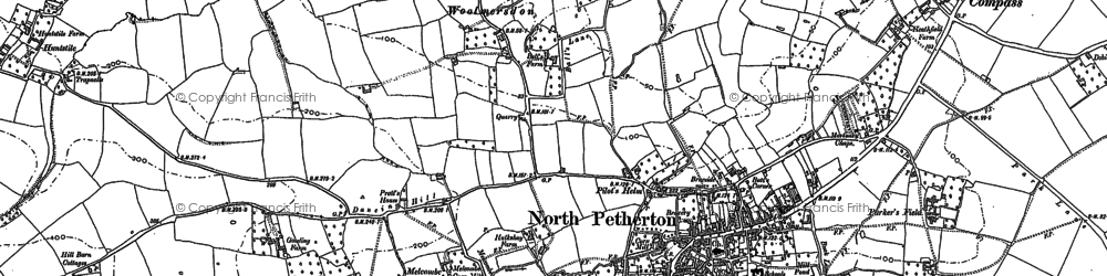 Old map of Woolmersdon in 1887