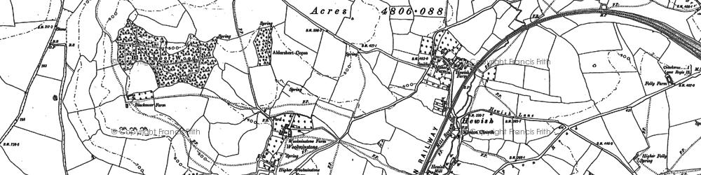 Old map of Woolminstone in 1901