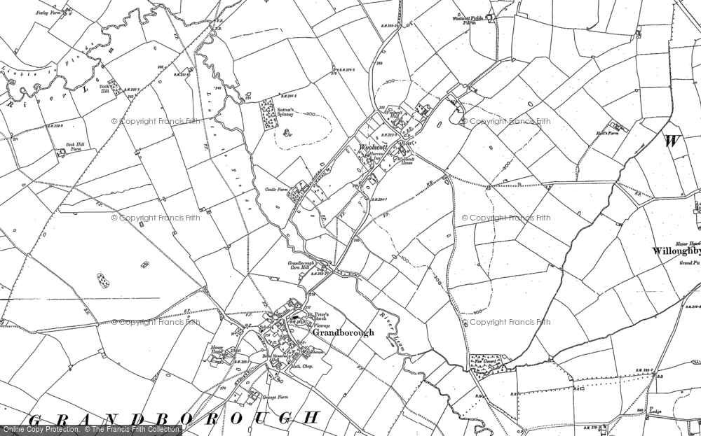 Old Map of Woolscott, 1899 - 1904 in 1899