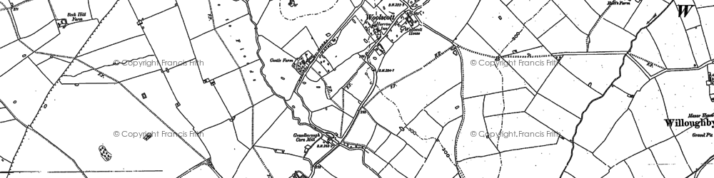 Old map of Woolscott in 1899
