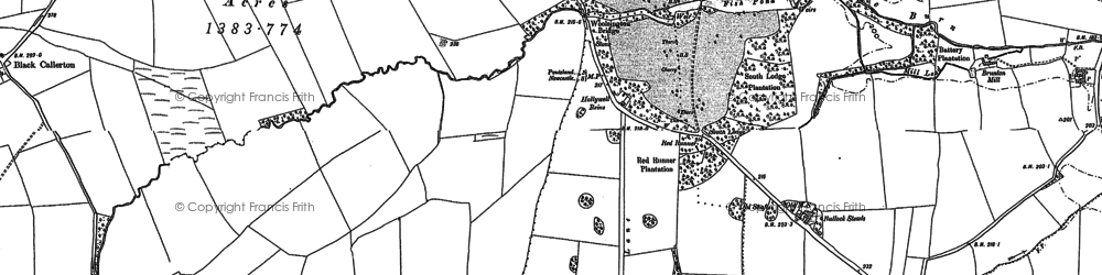 Old map of Woolsington in 1894