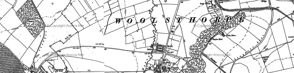 Old map of Woolsthorpe By Belvoir in 1886