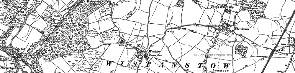 Old map of Woolston in 1883