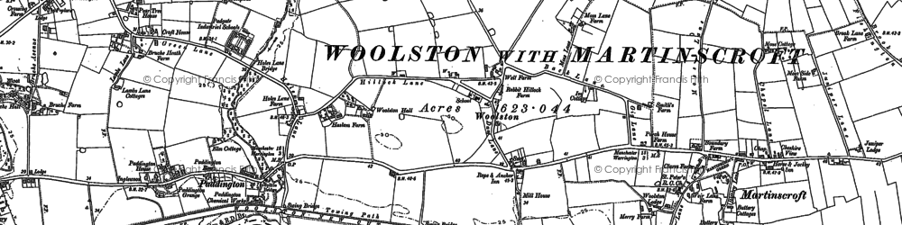 Old map of Woolston in 1894