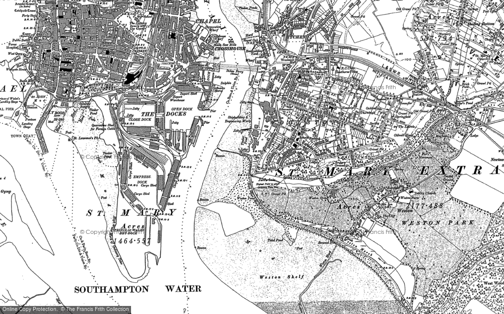 Map of Woolston, 1896