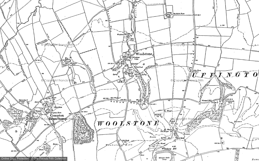 Old Map of Woolstone, 1898 in 1898