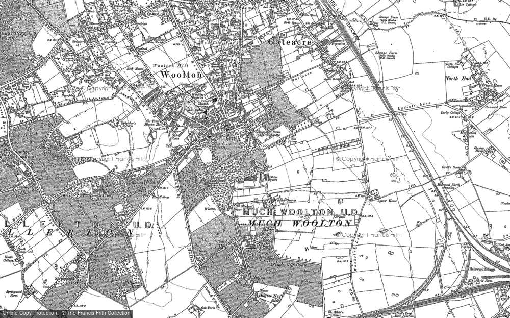 Old Map of Woolton, 1904 - 1905 in 1904