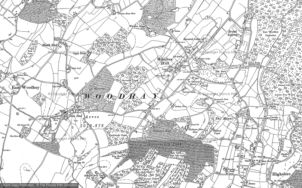 Old Map of Woolton Hill, 1909 - 1938 in 1909
