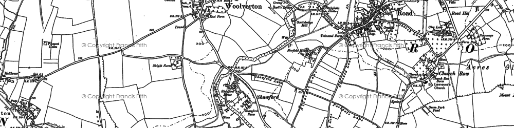 Old map of Woolverton in 1902