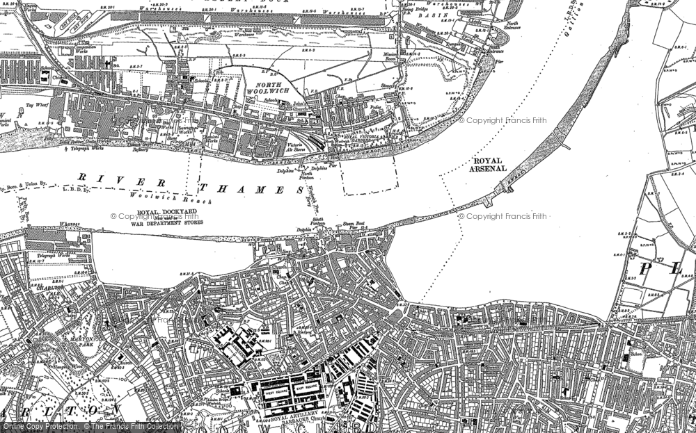 Map of Woolwich, 1894 - 1895