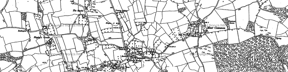 Old map of Woonton in 1886