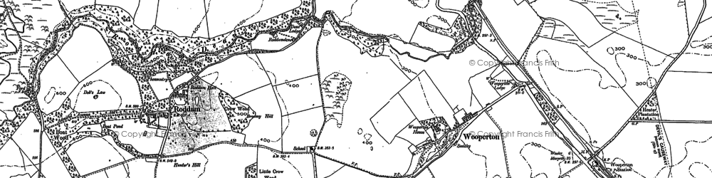 Old map of Wooperton in 1896