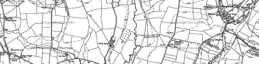 Old map of Wooth in 1901