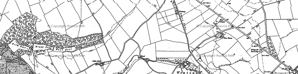 Old map of Wooton in 1901