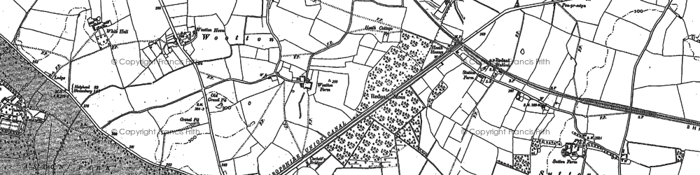 Old map of Wootton in 1875