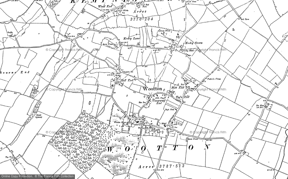 Old Map of Wootton, 1882 in 1882