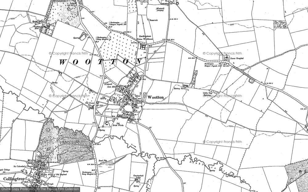 Map of Wootton, 1884 - 1899