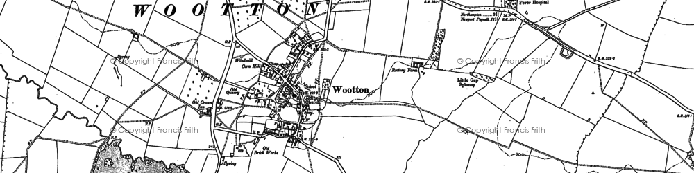 Old map of Wootton in 1884