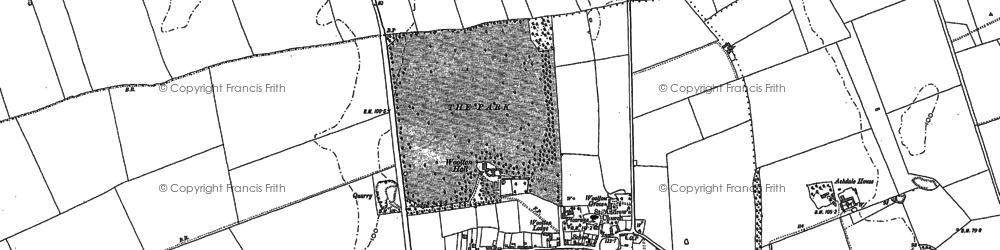 Old map of Ashdale Ho in 1886