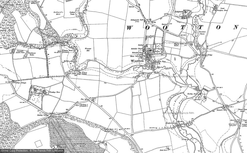 Old Map of Wootton, 1898 in 1898