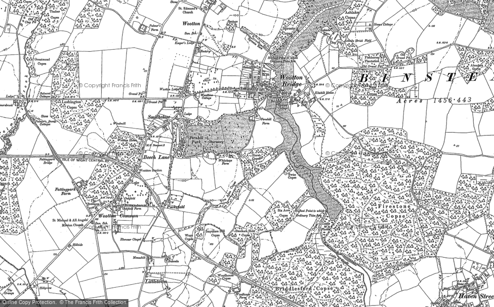 Old Map of Wootton Bridge, 1896 in 1896