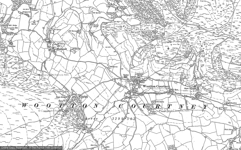 Old Map of Historic Map covering Wootton Common in 1902