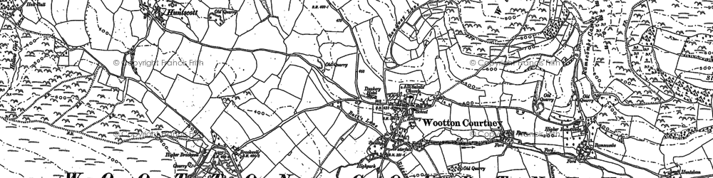 Old map of Wootton Common in 1902
