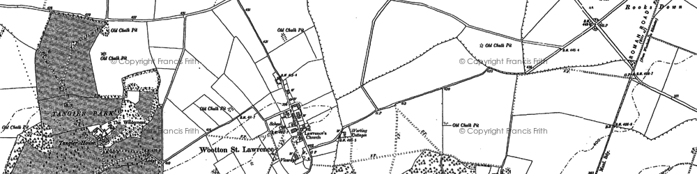 Old map of Wootton St Lawrence in 1894