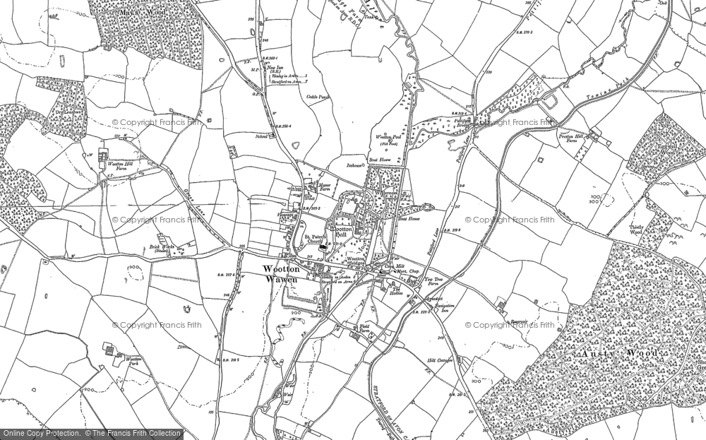 Old Map of Historic Map covering Austy Manor in 1885