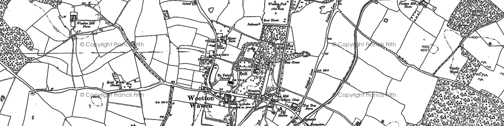 Old map of Austy Manor in 1885