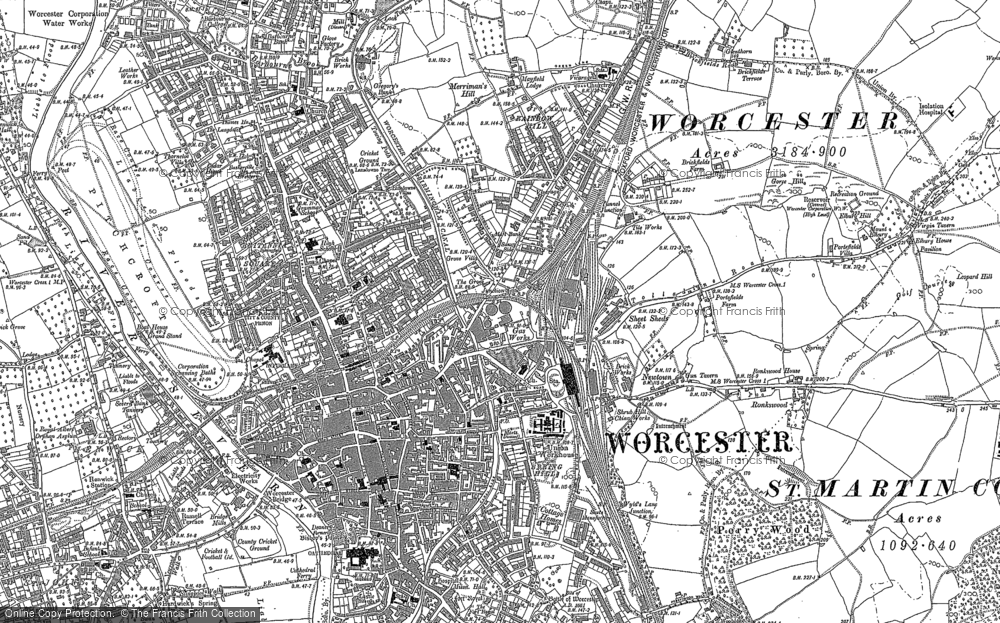 Old Maps of Worcester Francis Frith