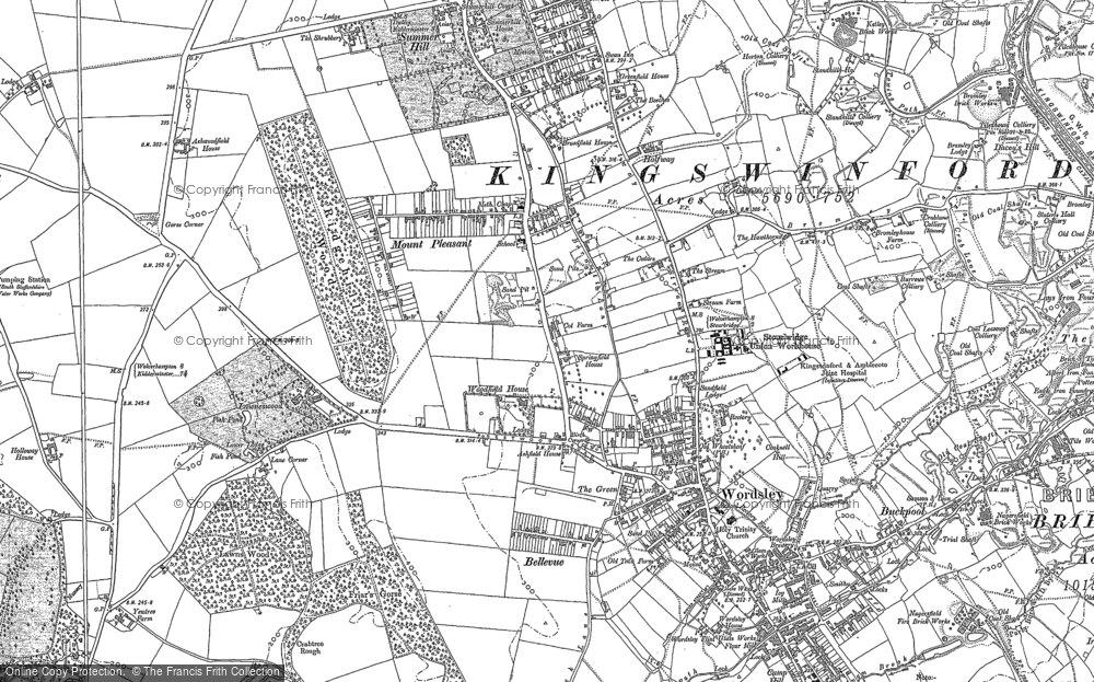 Map of Wordsley, 1901