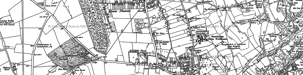 Old map of Wordsley in 1901