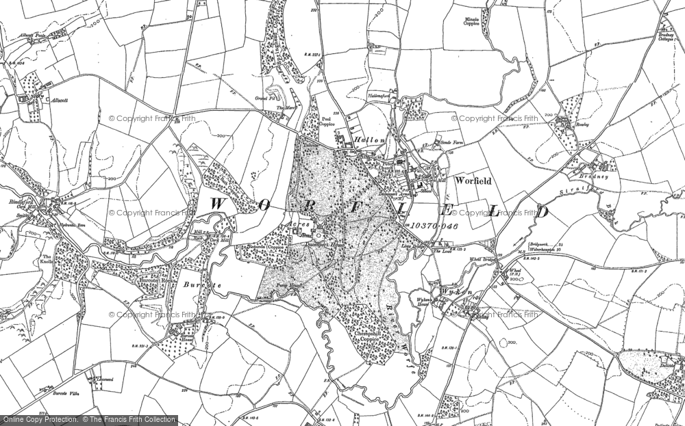 Map of Worfield, 1882 - 1901