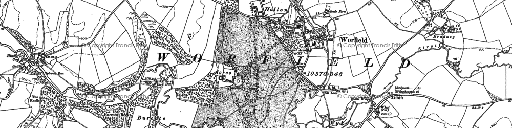 Old map of Worfield in 1882