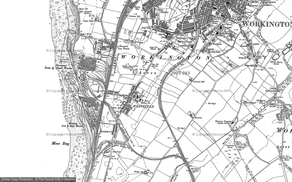 Old Map of Workington, 1923 in 1923