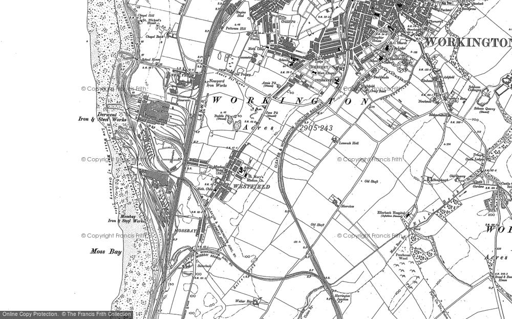 Map of Workington, 1923