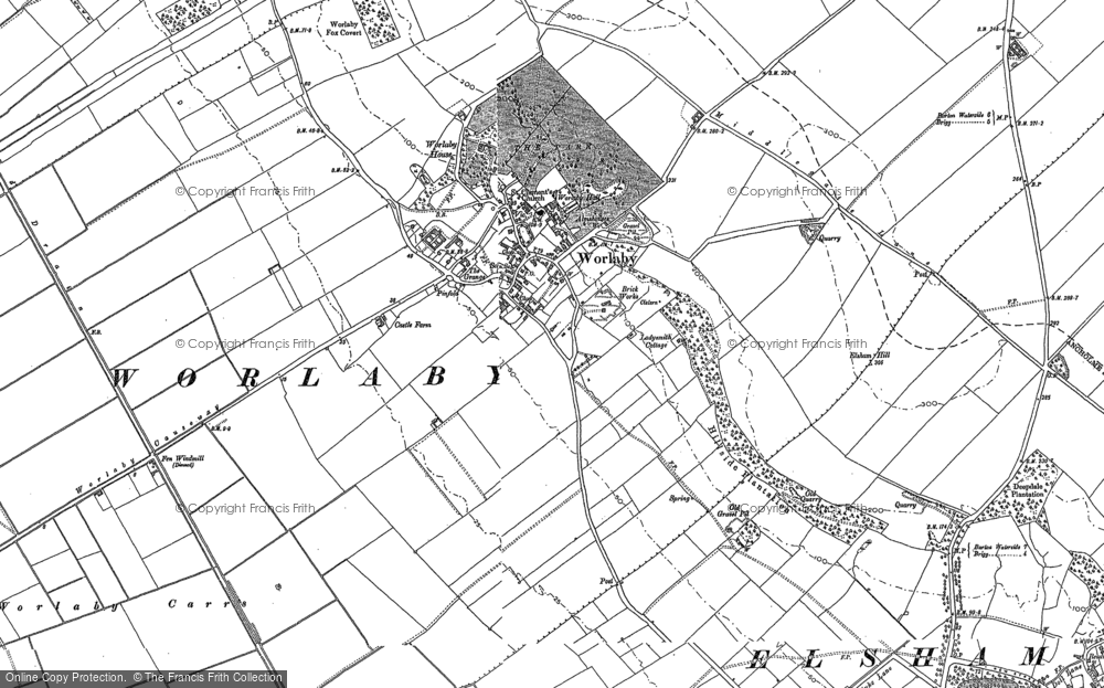 Map of Worlaby, 1886