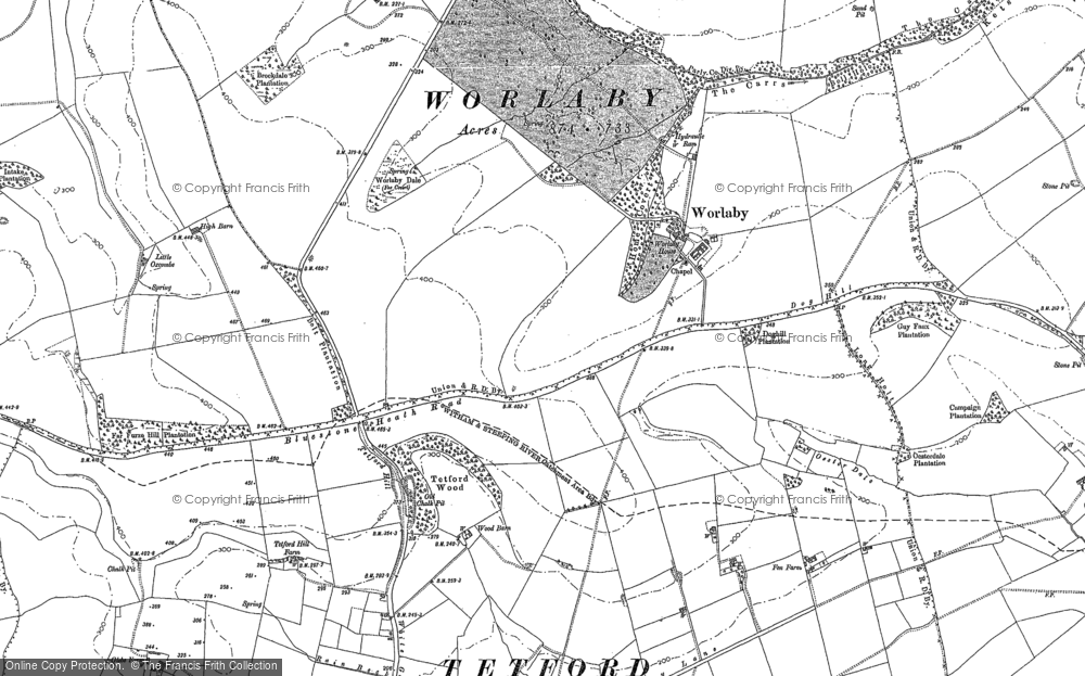 Map of Worlaby, 1888