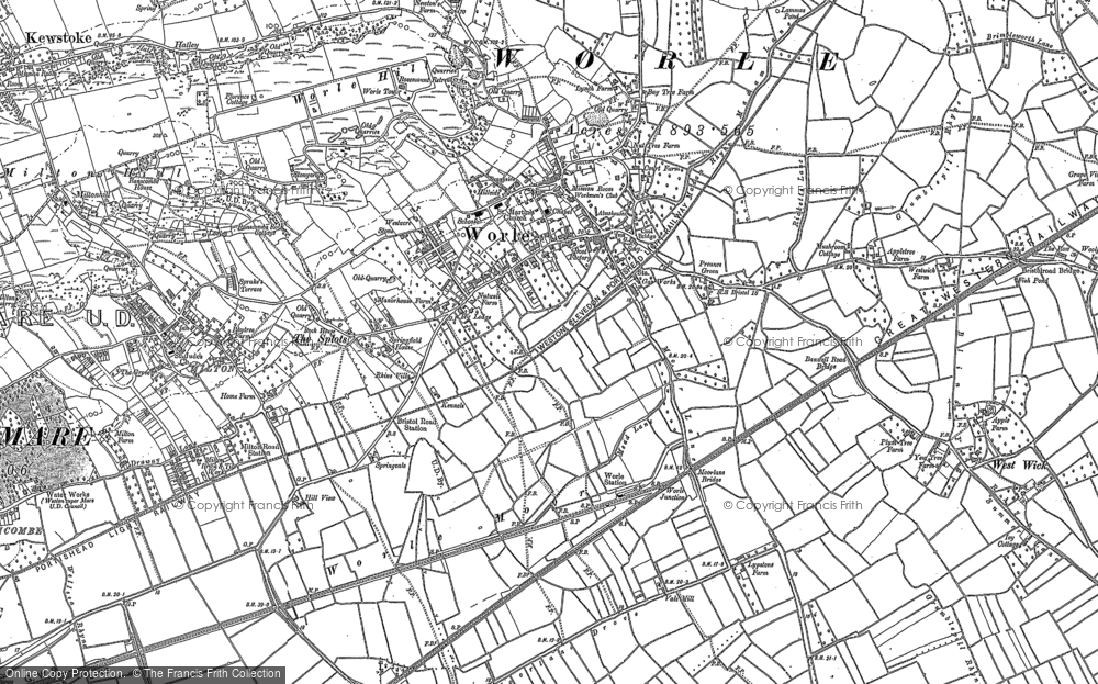 Map of Worle, 1902
