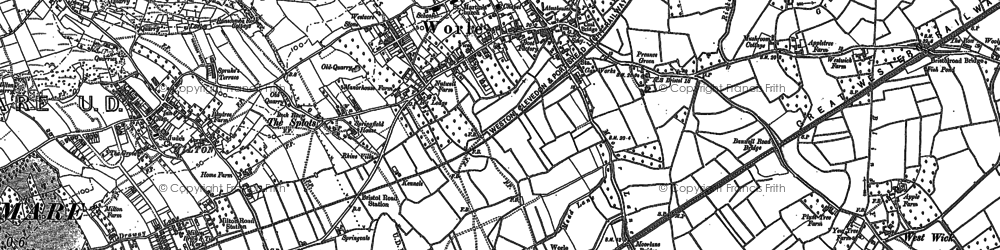 Old map of Worle in 1902