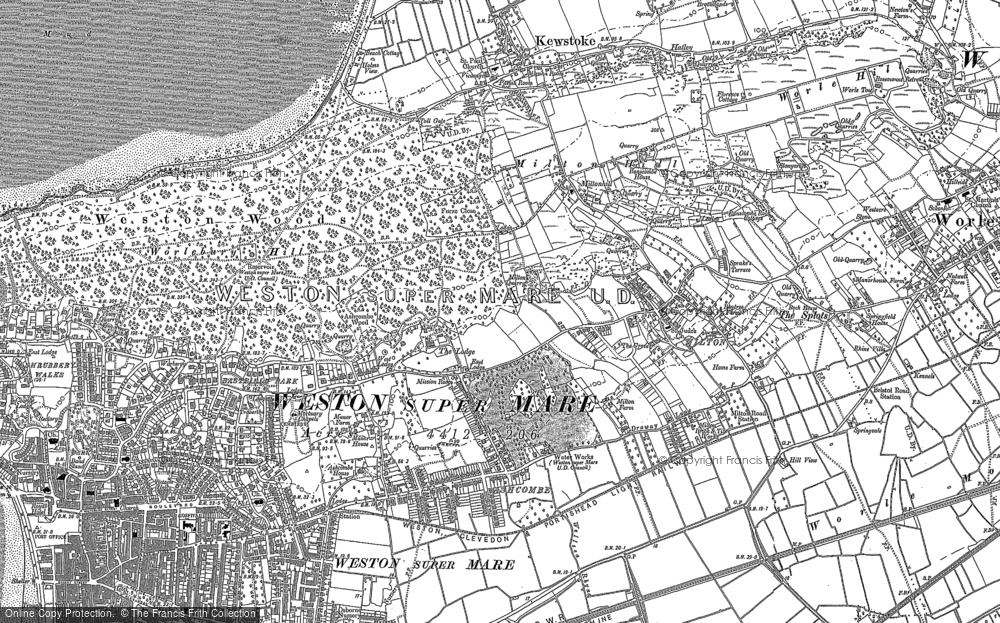 Old Map of Historic Map covering Ashcombe Park in 1902