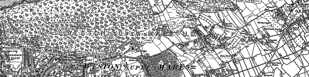 Old map of Worlebury in 1902