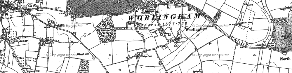 Old map of Worlingham in 1903
