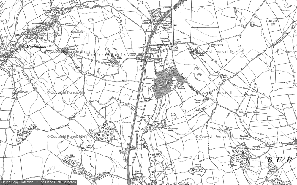 Old Map of Historic Map covering Leyton Lees in 1890